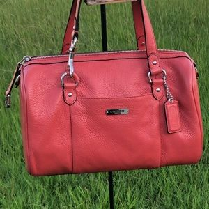 Coach Avery Pebbled Leather Satchel